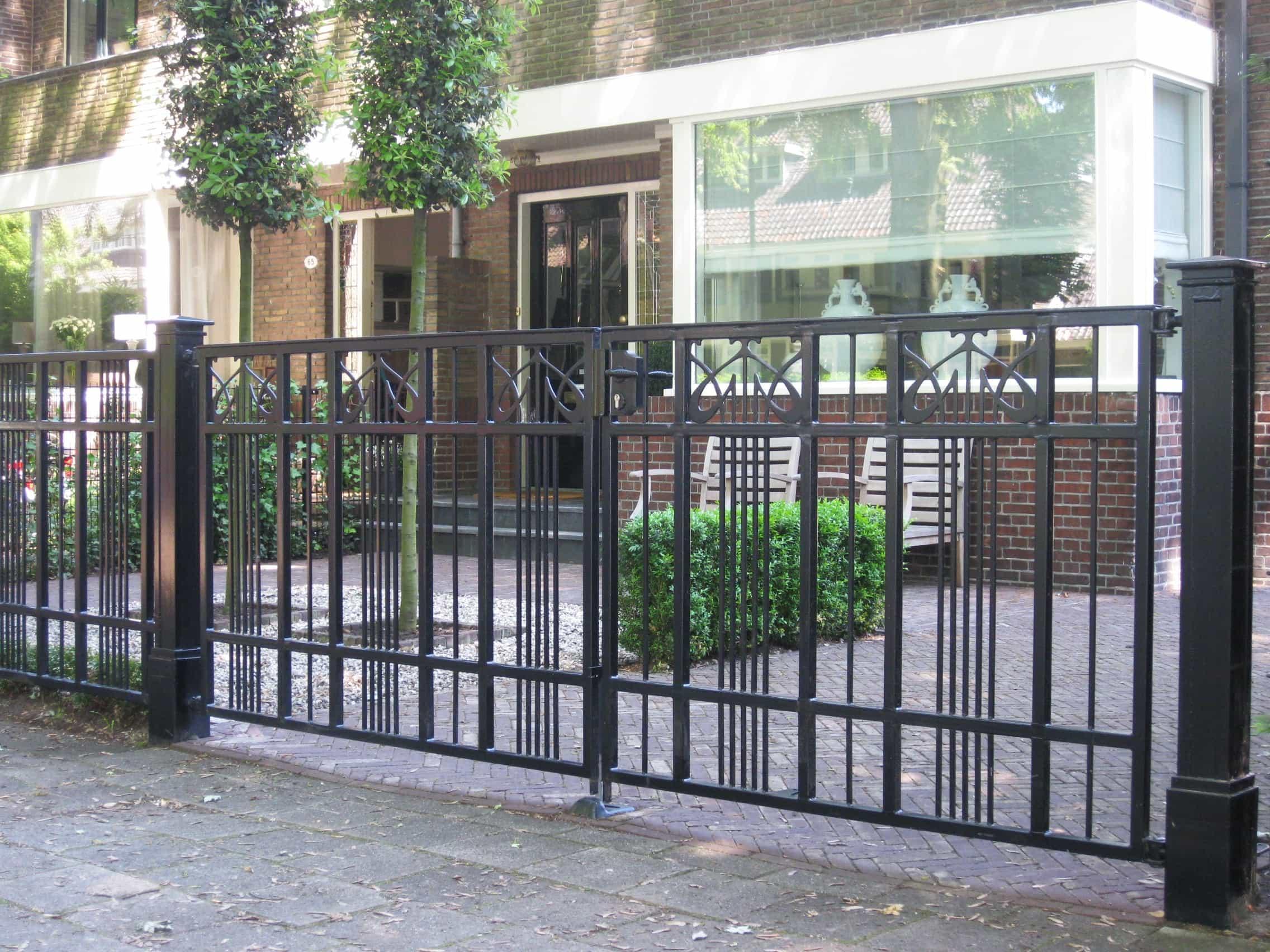 Sierhekwerk poort 3 x 1 23 m exclusieve palen artdeco - Deco van de tuin ...